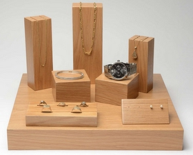 jewellery display oak
